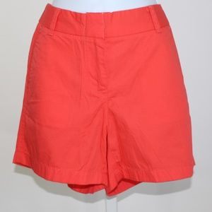 J.Crew shorts size 6 women's coral chino's NWT